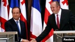 Ֆրանսիայի և Վրաստանի նախագահների համատեղ ասուլիսը Թբիլիսիում, 13-ը մայիսի, 2013թ․
