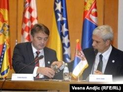 Željko Komšić i Boris Tadić na sesiji Igmanske inicijative u Beogradu, 14. oktobar 2011