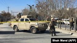 Forcat e sigurisë afgane në zonën ku kanë ndodhur shpërthimet në Kabul