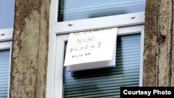 Poruka na prozoru portala Klix.ba