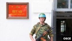 Militar rus, de gardă, la Bender