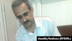 "Azerbaijan -- Editor-in-Chief of the newspaper ""Voice of Talysh"" Hilal Mammadov, Jun2012"