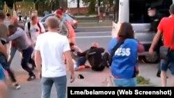 Сутычка зь міліцыяй у Маладэчне. Кадры відавочцы
