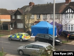Police activity at a residential address in southwest London on March 13. According to a police statement, they were investigating the unexplained death of a man being named as Russian businessman Nikolai Glushkov.