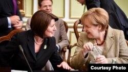Presidentja e Kosovës, Atifete Jahjaga, dhe kancelarja gjermane, Angela Merkel, Dubrovnik, 15 korrik, 2014.
