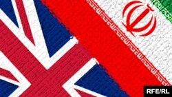 Britaniya və İran bayraqları