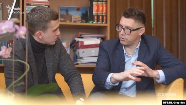 Журналіст Михайло Ткач і медіаюрист Тарас Шевченко
