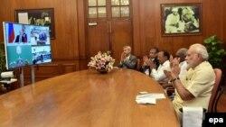 Путин и Моди преку видео линк се вклучија на почетокот на изградбата на наредната фаза од нуклеарната централа која Русија ја изгради во државата Тамил Наду во југоисточна Индија.