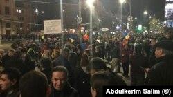 Protestul de la București din fața Teatrului Național
