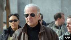 U.S. Vice President-elect Joe Biden in Kandahar, Afghanistan, on January 11.
