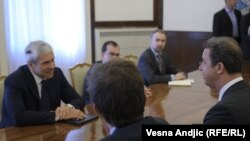 Glavni haški tužilac Serge Brammertz u razgovoru sa predsednikom Srbije, 11. maj 2011