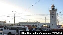 Ղրիմի մայրաքաղաք Սիմֆերոպոլի երկաթուղային կայարանը, արխիվ