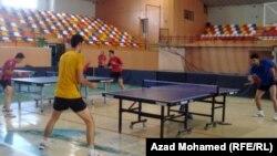 من تدريبات المنتخب العراقي لكرة الطاولة