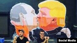 Litvada Putin-Trump qraffitisi