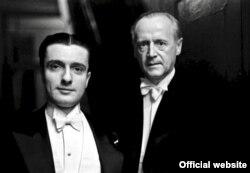 Dinu Lipatti alături de dirijorul german Hans von Benda la Ateneu în 1943 (Foto: Willy Pragher)
