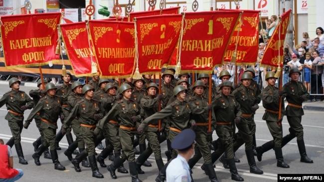 Российский военный парад в Симферополе, 24 июня 2020 года
