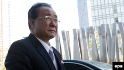 Вице-маршал Чхве Рён Хэ, член Политбюро Президиума и Секретариата ЦК Трудовой партии Северной Кореи в Инчхоне, 4 октября 2014