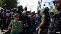 Migranti na granici između Grčke i Makedonije, ilustrativna fotografija