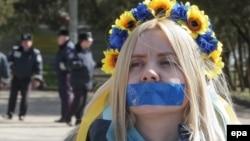 Мітинг у Сімферополі проти цензури, 13 квітня 2014 року