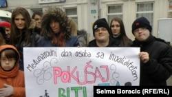 Protest osoba sa invaliditetom