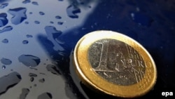 Монета единой европейской валюты.