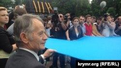 Qrim tatarlari yetakchisi Mustafo Jamilev, Kiyev shahri, 2014 yil 18 may.