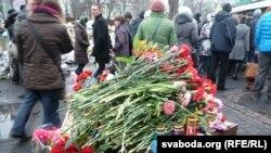 Sheshi i Pavarësisë në Kiev pas zhvillimeve të fundit në Ukrainë