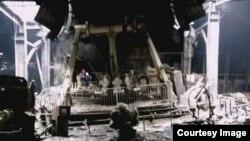 Остатоци од трговскиот центар во Кемрово по пожарот