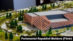 """La lansarea lucrărilor de construcție la complexul sportiv """"Chișinau Arena"""", Stăuceni, 14 octombrie t2018"""