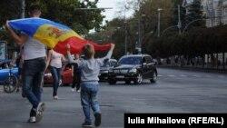 Protesta në Moldavi.