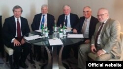 Belgium -- Armenian FM Edward Nalbandian meeting withthe OSCE Minsk Group co-chairs, Brussels, 22Jul2014