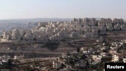 نمایی از یک آبادی یهودینشین در نزدیکی اورشلیم