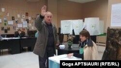 Imagine din primul tur de scrutin, Gori, 21 octombrie 2017.