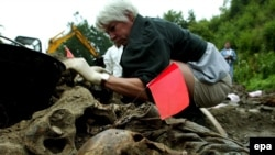 Ekshumacija iz masovne grobnice u Kamenici, Bosna i Hercegovina