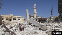 Здание в городе Батабо - после нанесения воздушных ударов правительственными силами