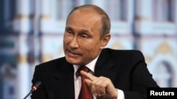 Владимир Путин на Петербургском экономическом форуме, май 2014 года