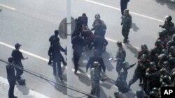 Разгон демонстрации в Китае