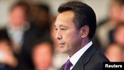 """Председатель правления национальной компании """"КазМунайГаз"""" Сауат Мынбаев. Астана, 7 сентября 2013 года."""