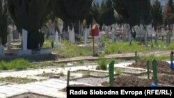 Муслимански гробишта во Охрид.
