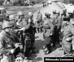 Встреча на Эльбе, 25 апреля 1945