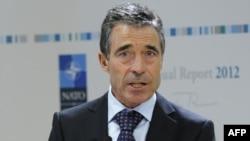 Belgjikë - Sekretari Gjeneral i NATO-s, Anders Fog Rasmusen gjatë fjalimit të tij vjetor