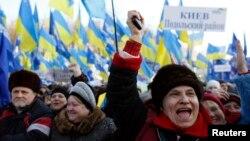 Демонстрация сторонников Виктора Януковича в Киеве 14 декабря 2013 года