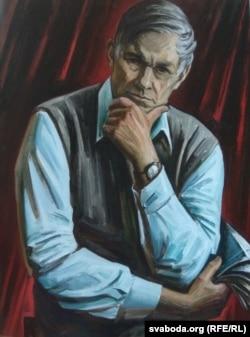 Май Данцыг. Партрэт Васіля Быкава. 1986 г.