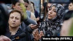 Dobitnice Nobelove nagrade za mir, Shirin Ebadi iz Irana i Tawakkol Karman iz Jemena, u poseti Miksalištu u Beogradu