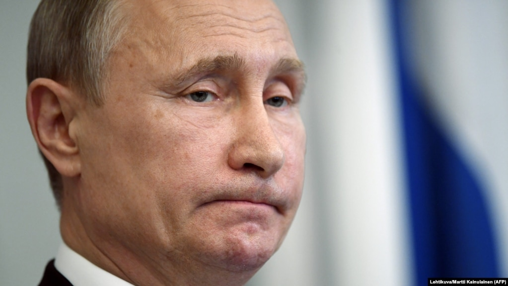 Russian President Vladimir Putin speaks to reporters in Savonlinna, Finland, on July 27.