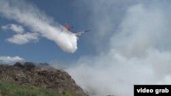 Гасіння пожежі на Грибовицькому сміттєзвалищі (архівне фото)