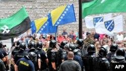 Під час протесту в Сараєві, 30 липня 2015 року
