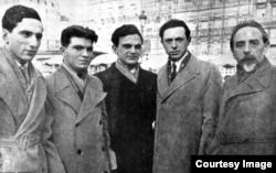 Delegația rusă cu Emil Gilels și Heinrich Neuhaus la Concursul de la Bruxelles în 1938 (Foto: Archive Estate of Emil Gilels)