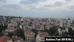 Burgas, Bulgaria 2016: vederea aeriană a orașului