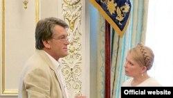 Віктор Ющенко та Юлія Тимошенко у червні 2007р.